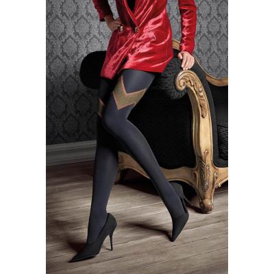 Элегантные колготки Gucci с блестящим геометрическим узором
