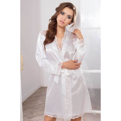 Халат с кружевом Lady in white