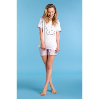 Хлопковая пижама с забавным принтом