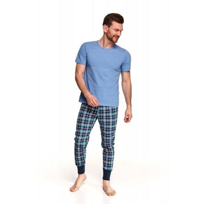 Хлопковая пижама Grzegorz с клетчатыми брюками