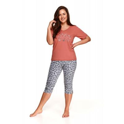 Оригинальная пижама Daria с леопардовым принтом на бриджах