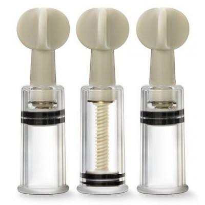 Набор из 3 вакуумных стимуляторов CLIT AND NIPPLE TWIST SUCKERS
