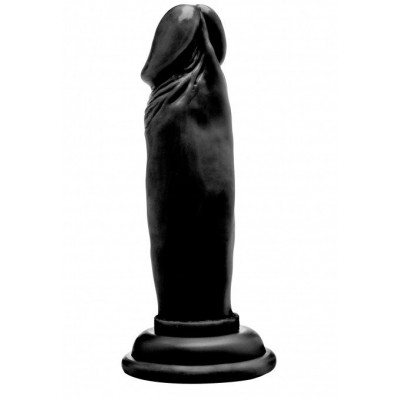 """Чёрный фаллоимитатор Realistic Cock 6"""" - 15 см."""