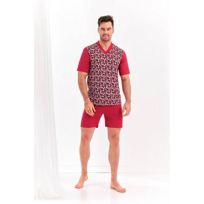 Мужской комплект Roman с футболкой в мелкий рисунок