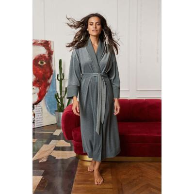 Домашний халат из меланжевой ткани
