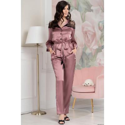 Шелковый пижамный комплект Olivia