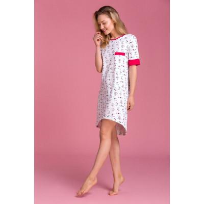 Оригинальная женская сорочка с удлиненной задней частью