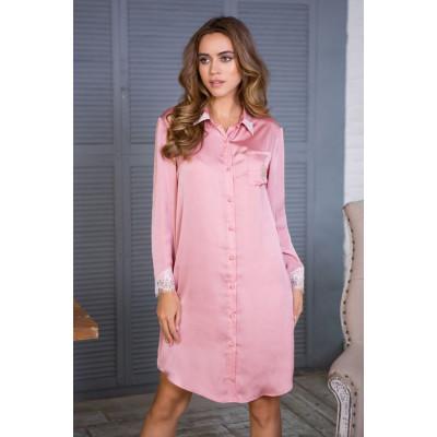 Шелковистая сорочка-рубашка Rosalina