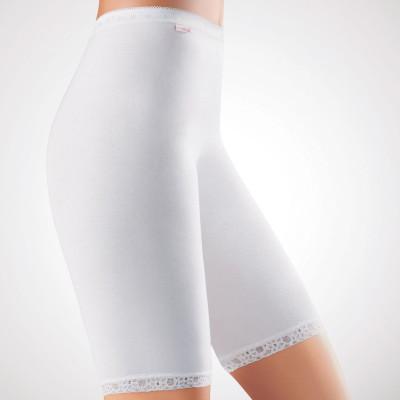 Удлиненные панталоны из эластичного хлопкового полотна