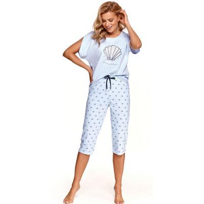 Хлопковая пижама Mona с принтом в виде ракушек